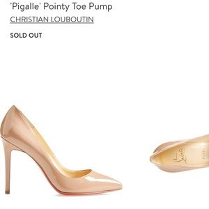 New Christian Louboutin pigalle pointy toe pump
